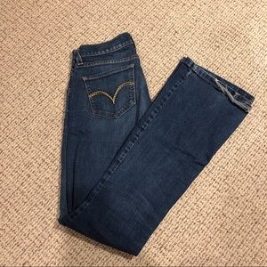 Levi's low-rise flare jeans